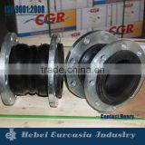 double sphere rubber expension joint, flange end