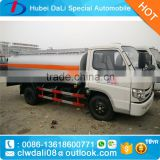 2 axles 8000 liters litres mini petrol tanker 8cbm diesel type fuel tank truck used oil trucks with computor refueling machine