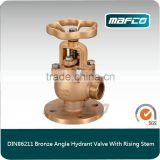 Bronze 2.5 Angle Fire Hydrant Landing Valve With Rising Stem For Fire Fighting Equipment