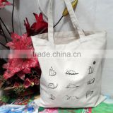 OEM cotton canvas tote bag with custom printed logo recyclable shopping cotton bag colorful lightweight felt tote bags