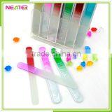 OEM fashion beauty buffer finger glass nail file for nail tools