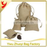 Cheap wholesale burlap coffee bean drawstring bags set