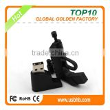 3D PVC gun shape low price usb pen drive with free sample