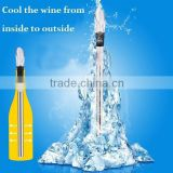 Hot Selling Stainless Wine Chilling Stick Wine Cooler With Pourer Portable Red Wine Coolers