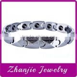 China Manufacturer Supply Top Grade Hearth Jewelry Titanium/316L Stainless Steel/Tungsten 4 In 1 Bio Magentic Chians Bracelets