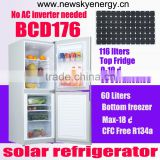 DC 12V 24V AC 240V 176L Solar Power Home Fridge Freezer Refrigerator                                                                         Quality Choice