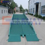 CE certification manual mobile hydraulic container loading dock ramp