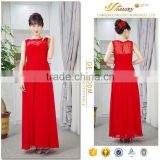 Beauty red chiffon ankle length factory direct sale inexpensive beijing wedding dress