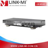 LINK-MI/OEM LM-MX42 support ARC&IR remote 4x2 matrix HDMI for PS3,PC,STB,Blu-ray DVD player