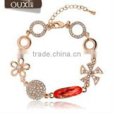 ouxi indian fashion jewelry wholesale crystal link bracelets made with Austria Crystal 30122
