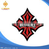Top design cheapest custom red design cross embroidery patch with eco-friendly material