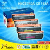 Reman CE740/741/742/743A Tatrix Premium Toner Cartridges 100% Compatble For HP CKMY Colors Toner Cartridge