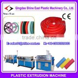 LDPE PP PE single wall corrugated pipe production line / corrugated tube making machine
