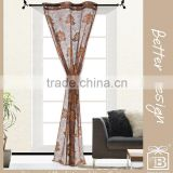 1Pc 100% Polyester Brown Two Tone Lace Macrame Embroidery/Embroidered Curtain with Matching Clip