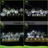 100ml 10cm hanging Christmas jar ball lamp grape teardrop round hollow mini glass light bulb bottle with led