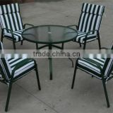 Uplion MS5095 wholesale Outdoor Restaurant furniture Garden dining two seater table and chair set