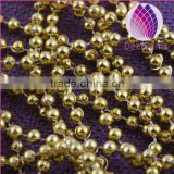 wholesale decorative connecting necklace 8mm 6mm copper plated plastic round beads chain sold by kilograms for clothing