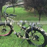 Newest high speed Camo Hummer fat tire bike used 48V Samsung Li