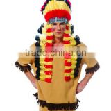 Native Indian Headdress with Trailer Adult Costume Accessory