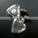 30x35mm heart shape glass dome with antiqued bronze bail DIY lovers heart wish vial pendant charm supplies 1810396
