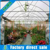 Galvanized steel frame inflatable hydroponics greenhouse with greenhouse air conditioner