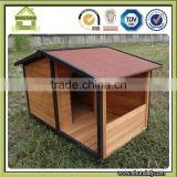 SDD11 Fancy modular decorative cute heated Large Wooden backyard dog kennels with Patio Balcony