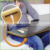 Bamboo Laptop Computer Table Desk with Metal Mouse pad/Homex_FSC/BSCI Factory