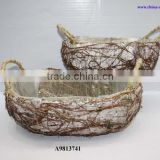birch bark basket for balcony