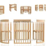 round 8 in 1 factory childhood to adulthood popular baby crib