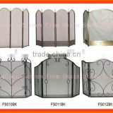 Wrought iron Three-Panel Fireplace Screen