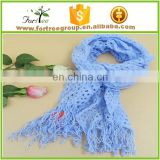 tassel lace scarf with fringe