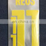 Soccer jersey player name and number stickers soccer heat transfer numbers jersey numbers and letters