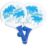 Classic Beach Tennis Wooden Paddle Game Set with 2 Balls, 2 Thick Water Resistant Wooden Rackets, 1 Reusable net bag