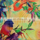 China wholesale 3D picture Digital printed Rayon fabric beautiful flowers