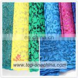 2016 top one wholesale african tulle lace fabric ,tulle lace ,african lace for nigeria wedding party