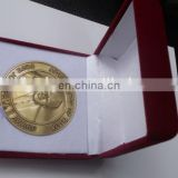 gift box, velvet gift box for challenge coin, different color velvet gift box, red coin box