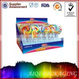 custom print paper packaging candy lollipop display boxes