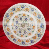 Marble Flower Inlay Table Top Pietra Dura Art Work