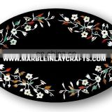 Oval Shape Inlay Table Top Manufacture