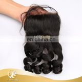 Wholesale Virgin Hair Vendor, Top Quality Raw Brazilian Human Hair Lace Closure Loose Wave