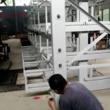 Telescopic cantilever rack for storage of goods more than 6 meters long