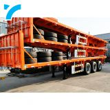 step deck semi trailer/flat bed trailer/container trailer