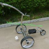 Noble remote stainless steel golf trolley