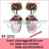 Belly Shape Wholesale White Porcelain Promotion Flower Pot Coffee Cup for Ceramic Planters