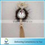 Wings with Colorful Crystal Pendant for key chain, bags, clothings, belts and all decoration