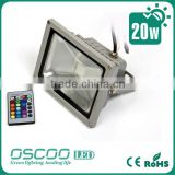 Oscoo Hot-Sale IP65 Die Casting Aluminium CE&Rohs 20 Watt RGB LED Flood Light Colorful Light Festival Light Bar Light
