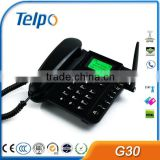 Telpo G30 1 sim card gsm fwp pstn landline wireless phone