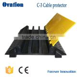 Factory direct 3 channel rubber cable protector humps