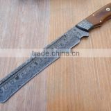 "udk h120"" custom handmade Damascus hunting knife / Bowie knife with walnut woodhandle"