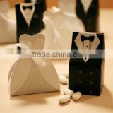 Black tux and White Gown Wedding cake box